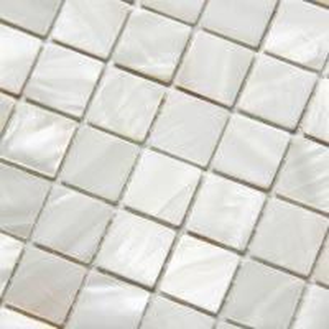China Handmade Beautiful Sea shell Wall Mosaic Freshwater Sea Shell Mosaic 20x20mm 305x305mm wholesale