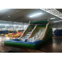 China Commercial Inflatable Water Slides , 0.55mm Pvc Bounce House 5-10 People wholesale