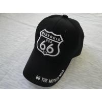 Buy cheap Unique Black Cotton Sports Caps With 6 Panels, Custom Embroidery / Printed Baseball Caps For Promotion from wholesalers
