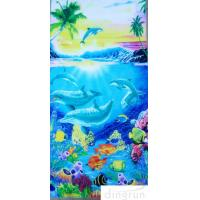 China Supper Soft  Cotton Custom Printed Beach Towels Dryfast OEM Welcome wholesale