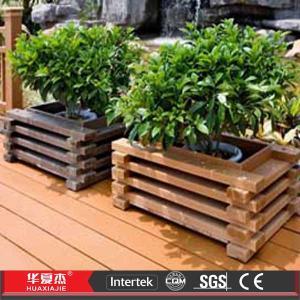 China Decorative Wood Plastic Composite WPC Flower Box in Garden wholesale