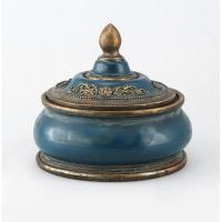 China Round Decorative Antique Looking Jewelry Boxes / Small Antique Trinket Box wholesale