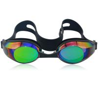 China Mirror coated adult silicone swim goggles with CP lens,Anti-Fog,UV protetcion wholesale