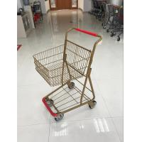 China 40L Folding Grocery Shopping Trolley , Singel Basket Supermarket Shopping Carts wholesale