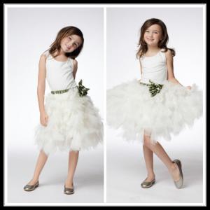 China Vintage White Unique Flower Girl Dresses Floor Length Kids Ball Gowns wholesale