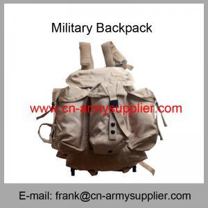 Wholesale Cheap China Qatar Army Desert Khaki Tan Nylon Military Alice Backpack