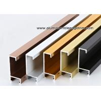 China Metal Type Aluminium Wall Picture Frame Mouldings With Brushed Sides wholesale