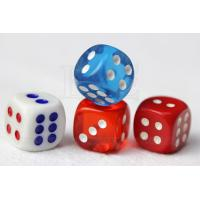 China Concealable Code Dice Cheating Device / 6 Sides Casino Games Dice wholesale