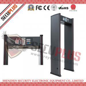 China SPW-IIIC Door Frame Metal Detector , 18 Zones Walk In Metal Detector Alarm Counter wholesale