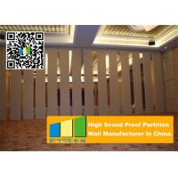 China Folding Acoustic Movable Partition Walls , Banquet Room Moving Partition Wall wholesale
