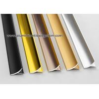 China Aluminum Inside / Internal Tile Corner Trim / Decorative Strip For Cleading Panel wholesale