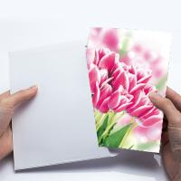China 12x17cm Fold Lenticular Greeting Cards , Flower 3D Greeting Cards For Holiday / New Year wholesale
