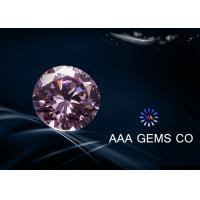 China Pink Round Enhanced Moissanite Loose Stones High Heat Conductance wholesale