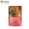 China Doypack Resealable Kraft Paper Packaging Bags Food Grade Packaging Zipper Bags wholesale
