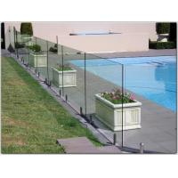 China Exterior stainless steel spigot glass railing/ glass balustrade with free design on sale