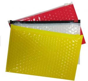 Custom Printed Bubble Package Envelope Plain End Style Zipper Design