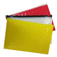 Quality Custom Printed Bubble Package Envelope Plain End Style Zipper Design for sale
