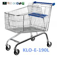 China Unfoldable 190 Litre UK Shopping Cart / Metal Shopping Carts For Kids wholesale