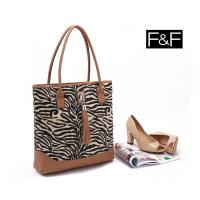 China wholesale Clothing accessories-F&F zebra tassel canvas shoulder bag portable female bag wholesale