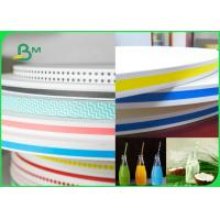 China 15MM 60gsm Straw Wrapping Paper Roll With Striped Color Print Food Grade Fully Recyclable wholesale