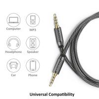 China 3.5 jack audio cable 3.5mmAUX cable cable car auxiliary line 4 pole connectable microphone for headphones mobile phone wholesale