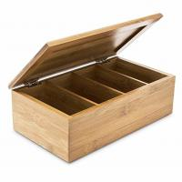 China Home Decoration Bamboo Storage Box Wooden Jewellery Box With 4 Compartments wholesale