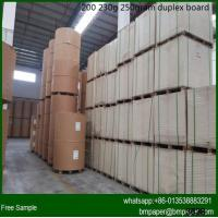 China Grade AA Duplex Board With White Back wholesale