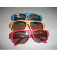China Red Blue Plastic Circular Polarized 3D Glasses ROHS, EN71 wholesale