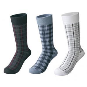 China custom socks ,design socks, logo socks,Mens Grid Pattern Dress Socks wholesale