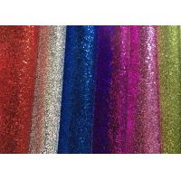 China Waterproof Colorful Glitter Wall Fabric , Glitter Fabric Roll PU Material wholesale