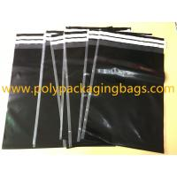 China Shipping Plastic Bags For Clothes 29 Cmx 40cm Self Adhesive Black Color wholesale