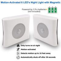 China ABS Plastic LED Sensor Night Light Motion Activated High Performance For Bedroom Toilet wholesale