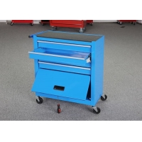 China Garage Storage Movable 616mm Tool Cabinet Combo With Door Blue Color wholesale