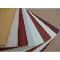 China Customized melamine mdf sheets / fiberboard with orange , white , wooden grain color wholesale
