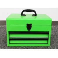 """Buy cheap 14"""" Green 2 Drawer Concertina Cantilever Tool Box For Auto Reparing from wholesalers"""