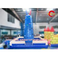 China Giant Inflatable Adult Slide Rock Climbing Wall / Inflatable Rock Climbing Wall Rentals wholesale