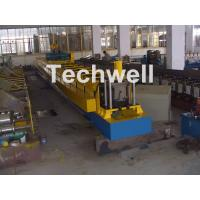 China Chain Transmission Top Hat Profile Cold Roll Former Machine With 15 Roll Stations wholesale