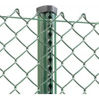 China Outdoor European Green PVC Coated Chain Link Fabric Fencing And Post System Kits wholesale