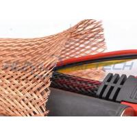 China Meta Tinned Copper Braided Sleeving , Expandable Cable Shielding Sleeve wholesale