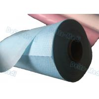 China Perforated Hospital Bed Sheets Disposable Examination Table Cover Roll PE Coated wholesale