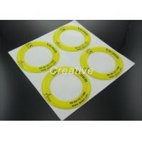 China Non Yellow Polyurethane Resin Dome Stickers With White Vinyl Substrate wholesale
