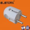 China Wenzhou Elendax ABS Material German type  2 Roud Pin Plug (P7051) wholesale