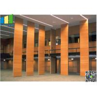Fabric Wooden Exhibition Partition Wall , Folding Operable Partition Walls Manufactures