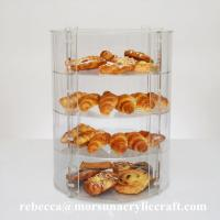China New Countertop Eco-friendly Four Tier Transparent Acrylic Bakery Display Case wholesale