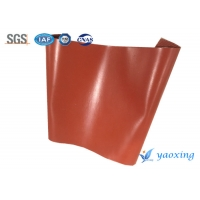 China 1.5mm Red Single Side Silicone Coated Fiberglass Fabric wholesale