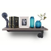 Buy cheap Industrial pipe and wood 15x10cm pipe brackets for flower and book shelving from wholesalers