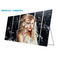 China Advertisement Indoor LED Poster Screen IP40 With Mobile Wheel / Bracket Standing on sale