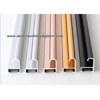 China Metal Modern Type Aluminium Picture Frame Mouldings With Narrow Curved Shape wholesale