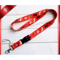 China China lanyard supplier for wholesale Christmas Snowman design printing lanyards in bulk, on sale