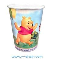 China White single poly paper hot drink cups wholesale